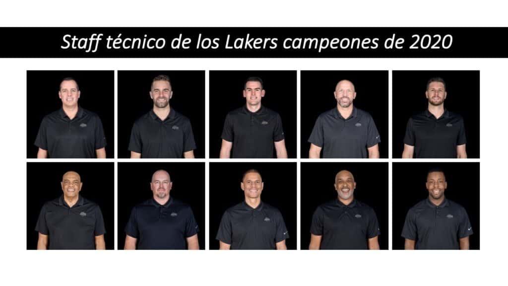 Entrenadores Lakers campeones 2020